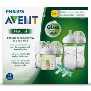 NEW Philips Avent Glass bottls set BRA FREE